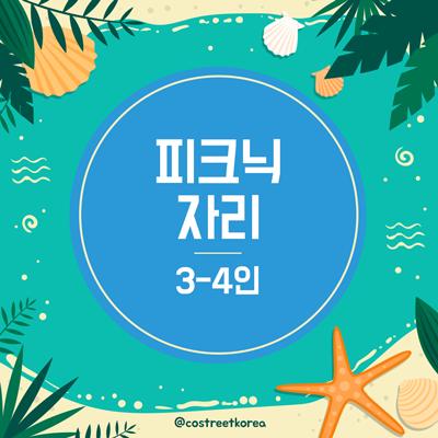 제3회 코스피크&바캉스피크닉자리 3-4인용